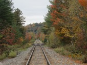 27 Down the tracks by Northfield Falls