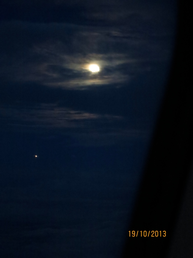 Full moon from the plane