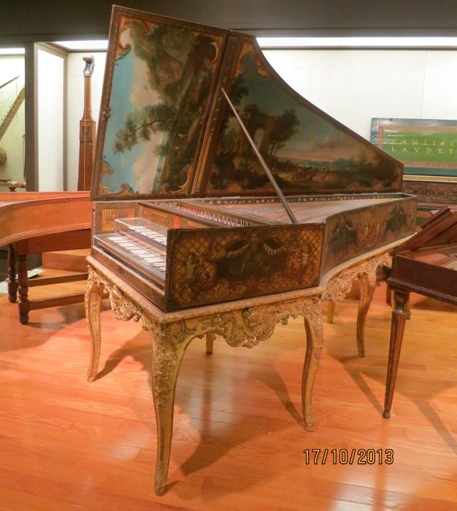 Decorated harpsichord