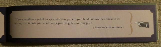 An African proverb
