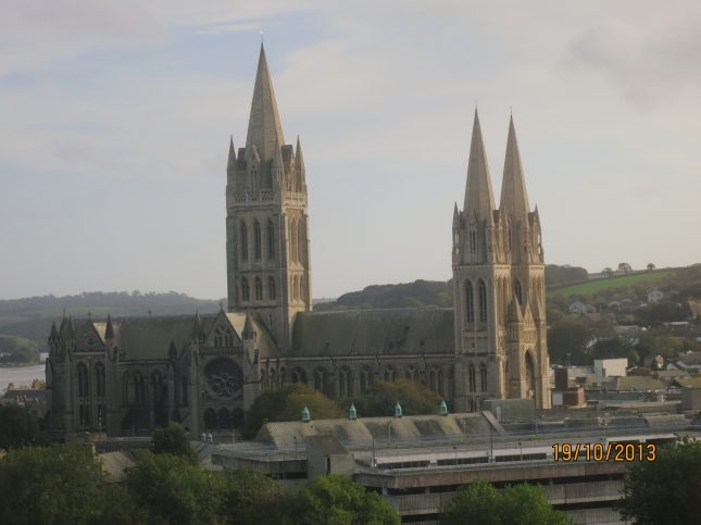 Truro Cathedral from the train