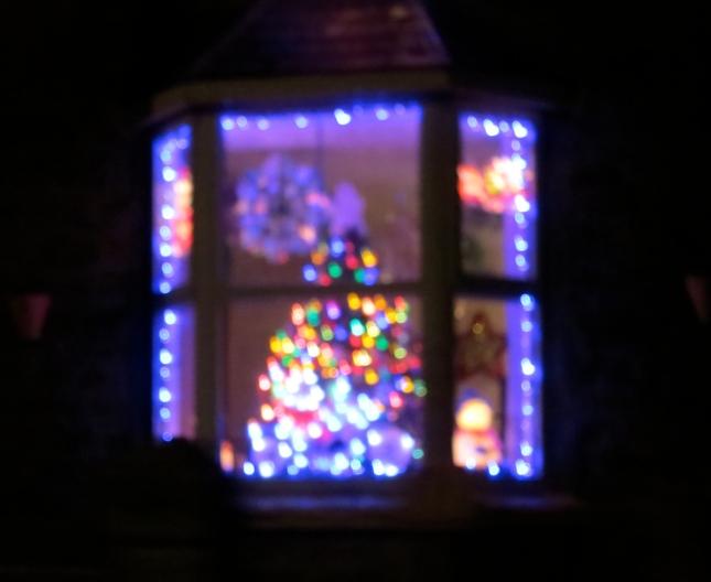 Lights in a window