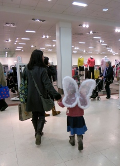 A Fairy out shopping