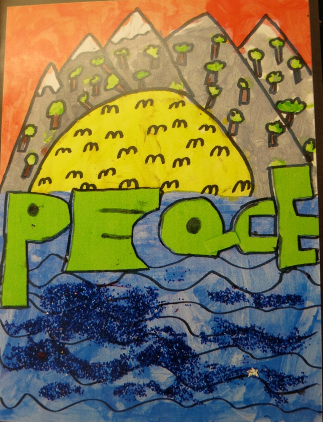 Peace card desigend by a child