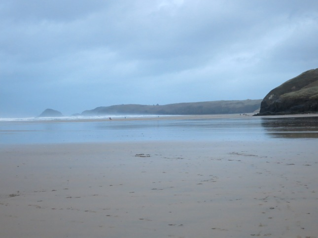 Miles and miles of sandy beach at Perranporth