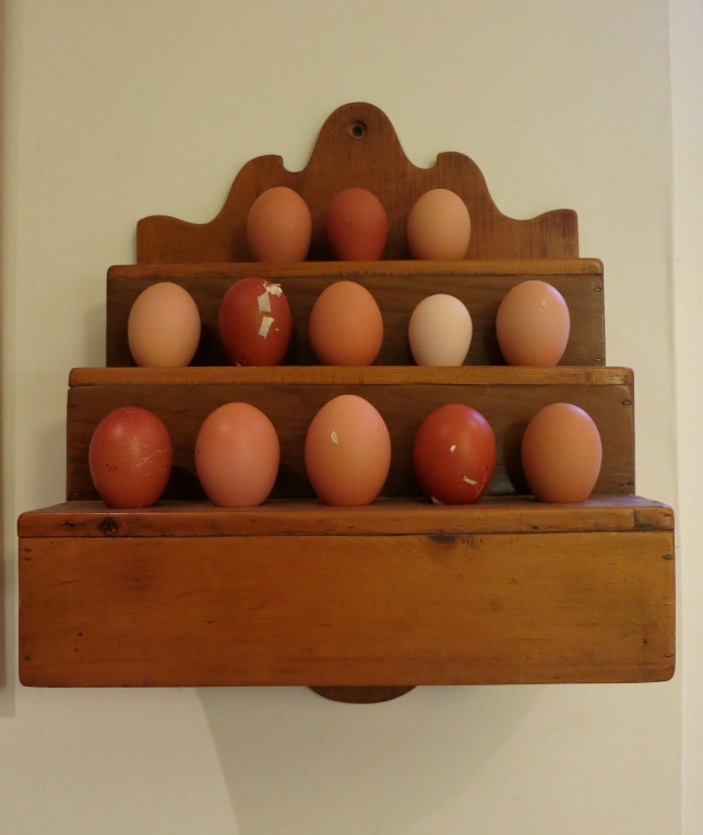 Wooden spoon rack used for eggs