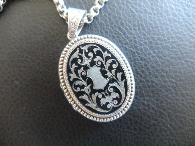 The front of the locket