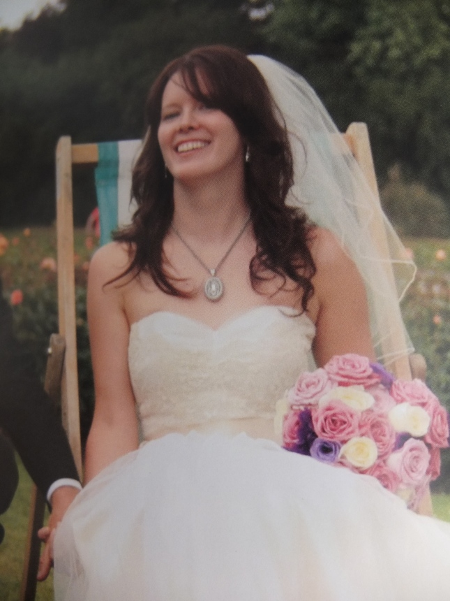 KJ at her wedding