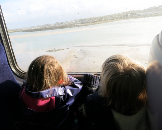 Leaving the Hayle estuary