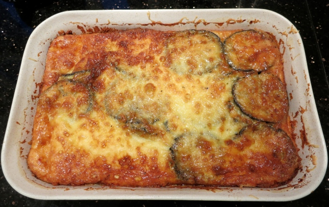 Golden baked Moussaka
