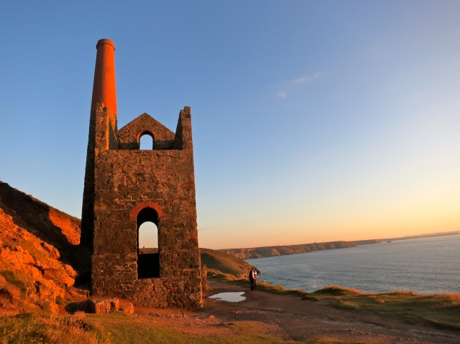 Wheal Coates in the glow of sunset
