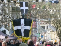 Saint Piran's flag dating from 1838