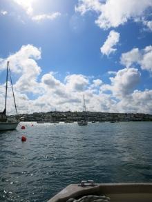 Sailing back towards Falmouth