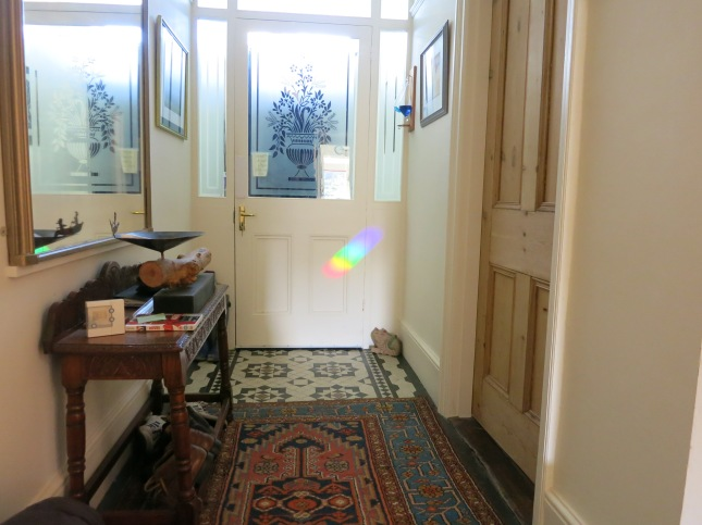 Rainbows have travelled all the way through the house