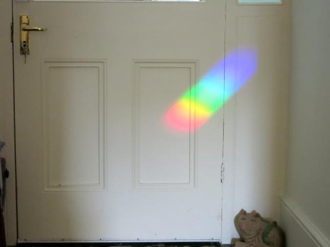 Rainbow on the front door