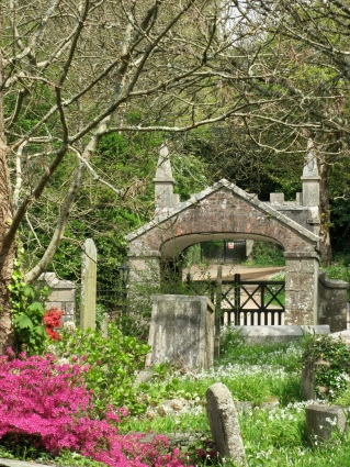 The beautiful old lych-gate