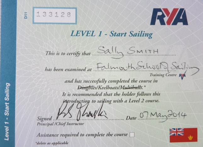 Certificate Level 1