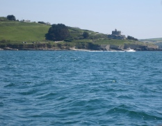 Round Pendennis Point past the castle