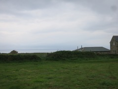 View from the field - the sea at St Ives