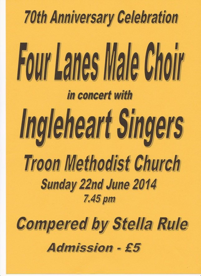 The poster for our concert