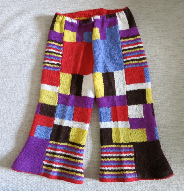 1970's patchwork flares