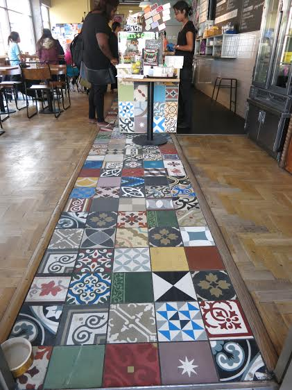 Tiles at the coffee shop