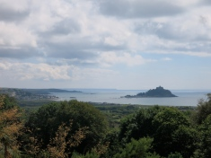 St Michael's Mount from the top of the garden