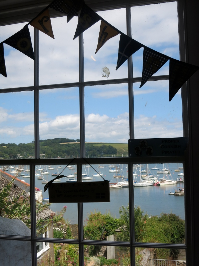 View from inside a shop in Falmouth