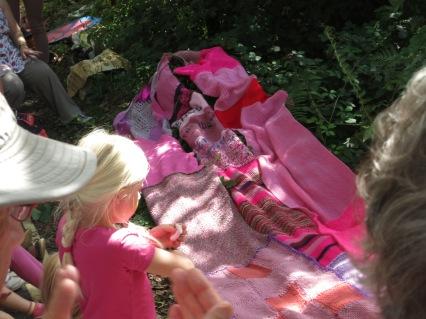 Still more pink knitting