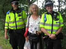 These young Police people were lovely, were full of praise for Jaine and the way the whole event was organised,for everyone there for the lovely atmosphere. They told us that they are human beings under the uniform and are happy to have their photo on my blog.