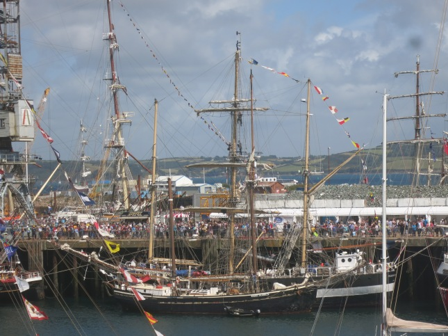 Some of the Tall Ships in Falmouth Harbour