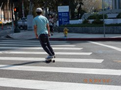 Crossing the road in L.A.