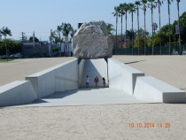 Levitated Mass by Michael Heizer at the Los Angeles County Museum
