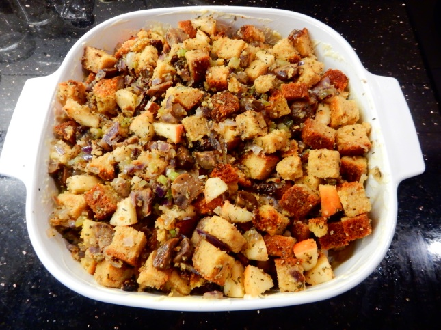 Corn bread and Chestnut Stuffing