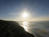 Sun towards St Ives