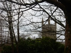 The Tudor tower of St Euny Church. There has been a Church on this site since 550!