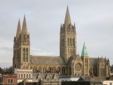 Truro Cathedral from the top of the car park