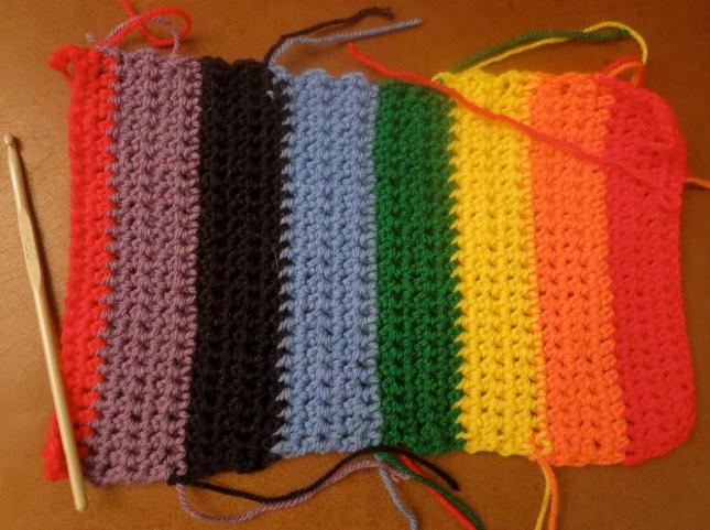 Starting my rainbow crochet project
