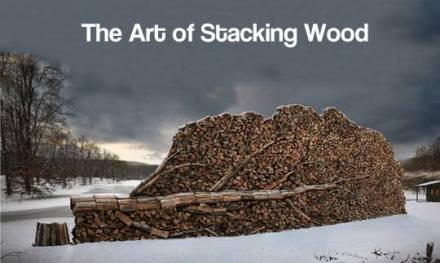 Stacking wood - tree