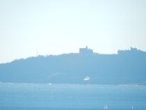 Pendennis Castle and sparkles on the water
