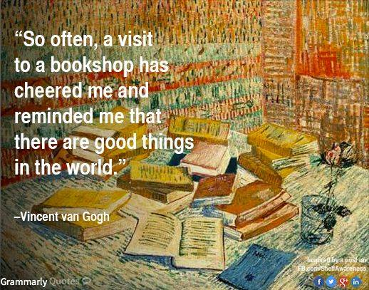 So often, a visit to a bookshop
