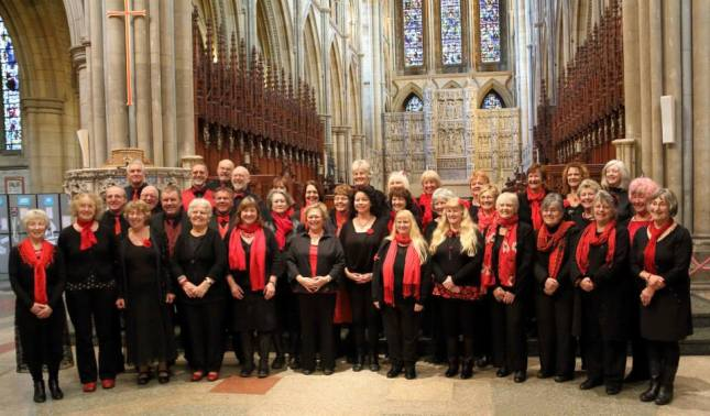 The Ingleheart Singers at Truro Cathedral, thanks to Tina for this photo