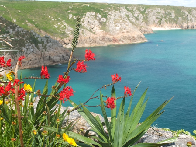 Porthcurno taken from The Minack Theatre