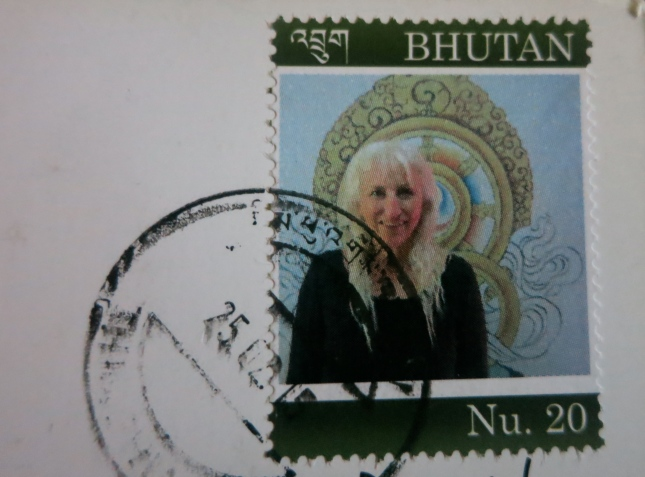 Sue on a stamp