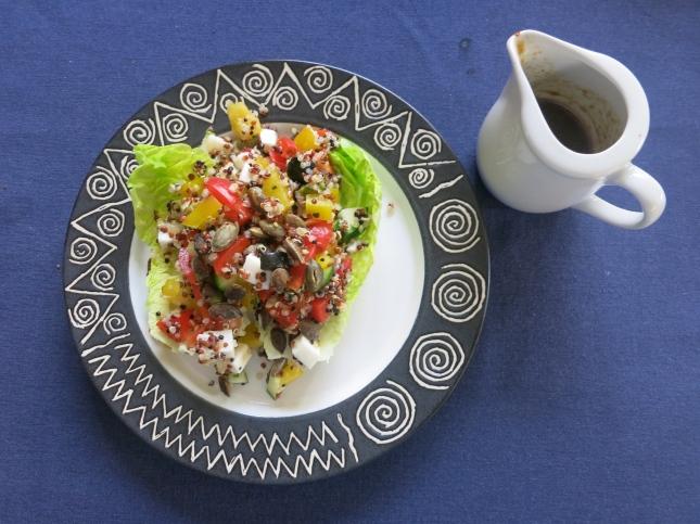 Quinoa salad and dressing