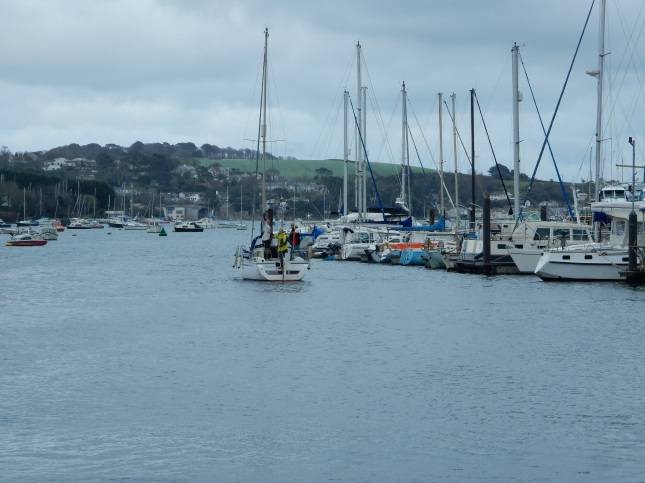 Skippalong on her way up The Penryn River