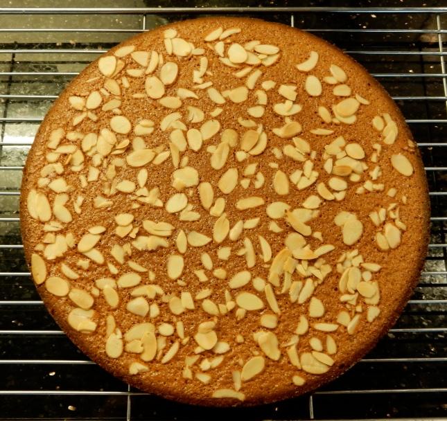 Almond, Cinnamon and Sour Cream Cake