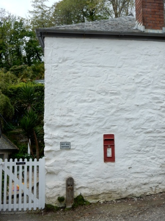 Post Box Cottage in the village of Durgan