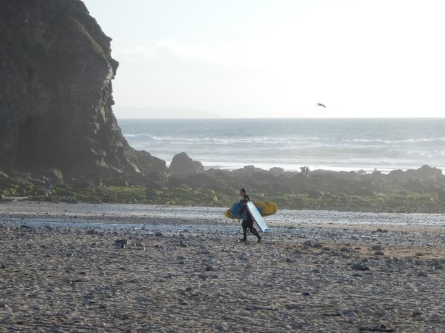 Surfers returning