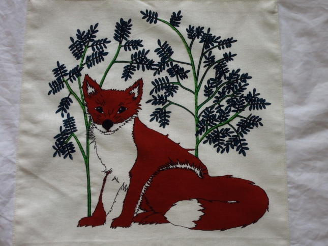 Embroidered panel